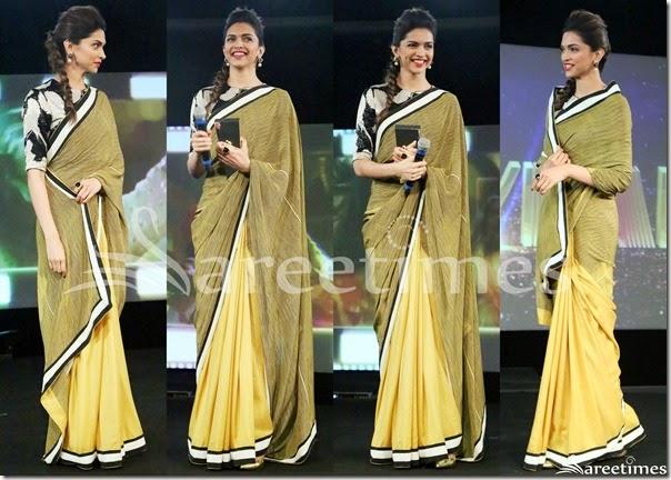26186f0f5a7e78 Deepika Padukone in Dev R nil Saree   sareetimes