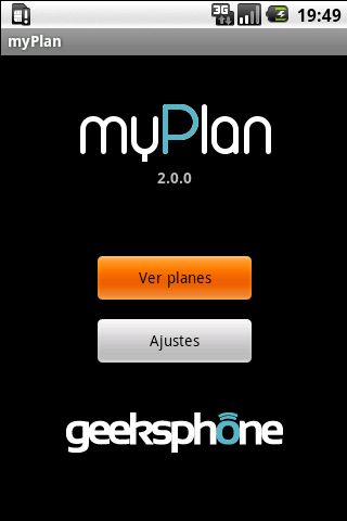 myPlan - screenshot