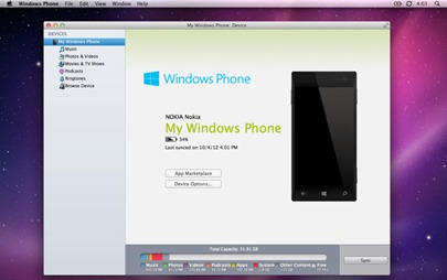 Windows Phone App for Mac