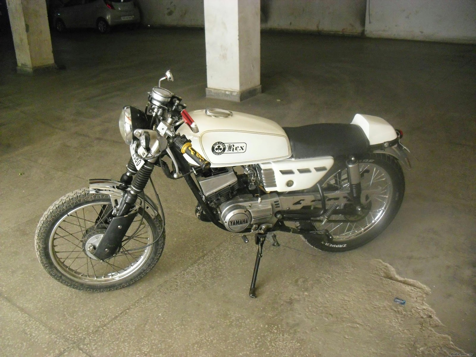 modified yamaha rx100 white modified yamaha bikes collection