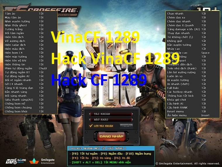 Hướng Dẫn Tải Về VinaCF 1289 - Phần Mêm Hack CF 1289 Cực Mạnh: