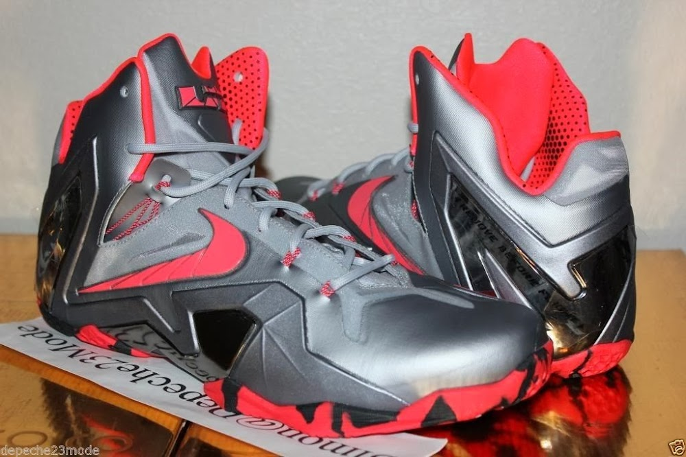 buy online 39d7e 9ebad 642846-001 Wolf Grey Crimson-Cool Grey-Black. Nike LeBron XI PS Elite  8220Wolf Grey8221 Initial Drop in April for 275 ...