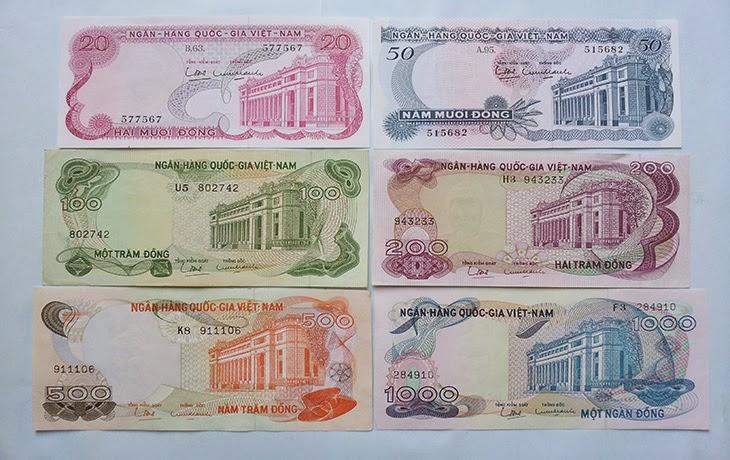 Bộ tiền VNCH 1969(Bộ Hoa Văn)