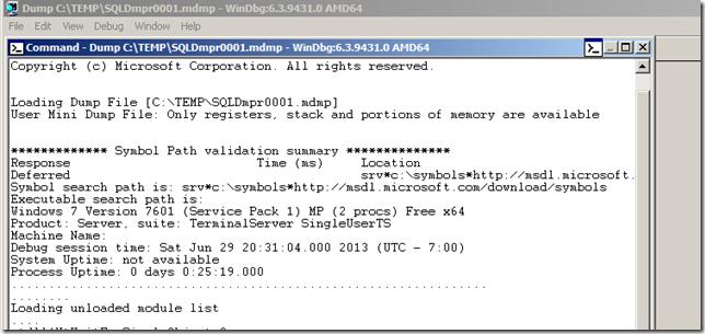 Sqldumper and winDbg | SQL Panda