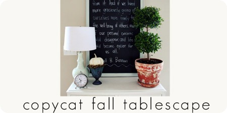 copycat fall tablescape