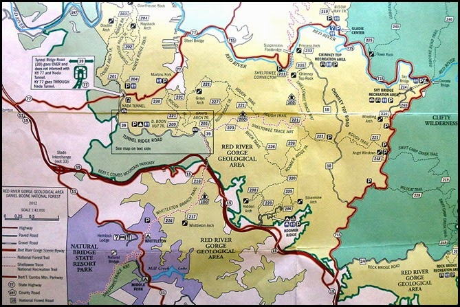 00a - Red River Gorge Geological Area Map