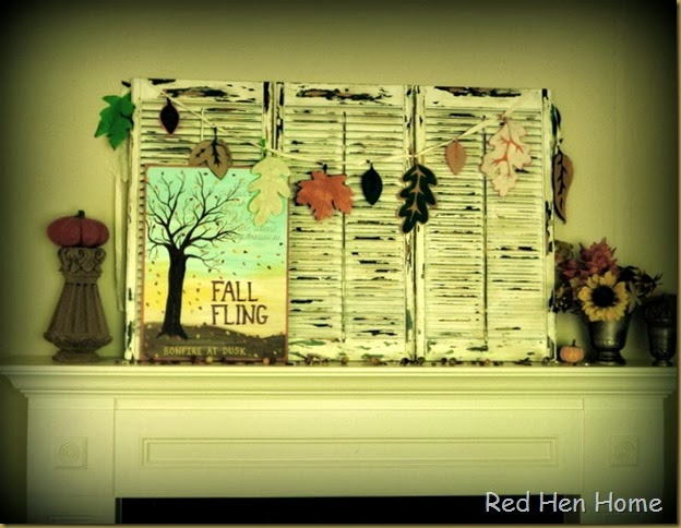 Red Hen Home Fall Mantel 5