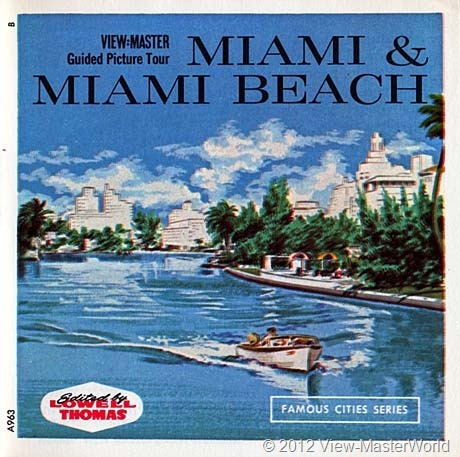 View-Master Miami and Miami Beach (A963), Booklet Cover