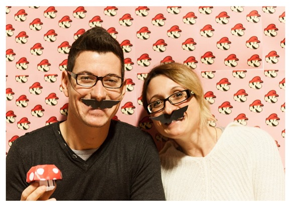 super mario inspired party - photoboot
