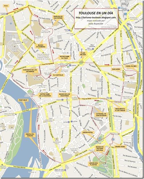 Mapa Turistico De Toulouse.Toulouse La Ciudad Rosa Toulouse En Un Dia