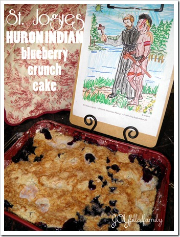 St. Jogues - HURON INDIAN BLUEBERRY CRUNCH