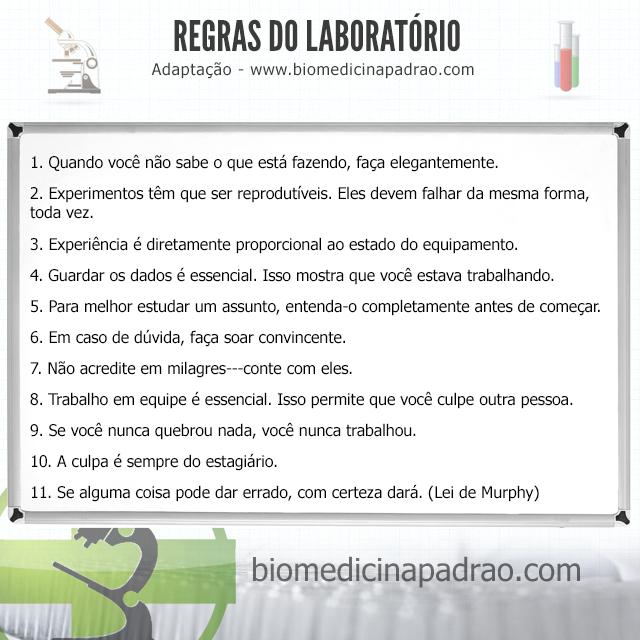 Regras do laboratório