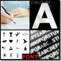 FONT- 4 Pics 1 Word Answers 3 Letters