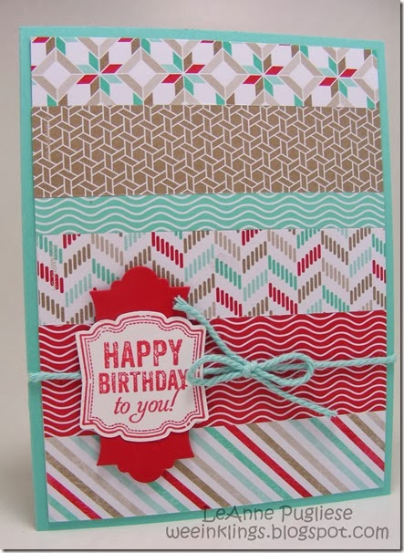 LeAnne Pugliese WeeInklings Stampin Up Label Love Birthday