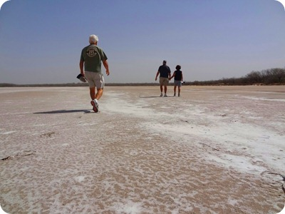 walking on salt bed