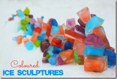 Colored Ice Sculptures from Happy Hooligans