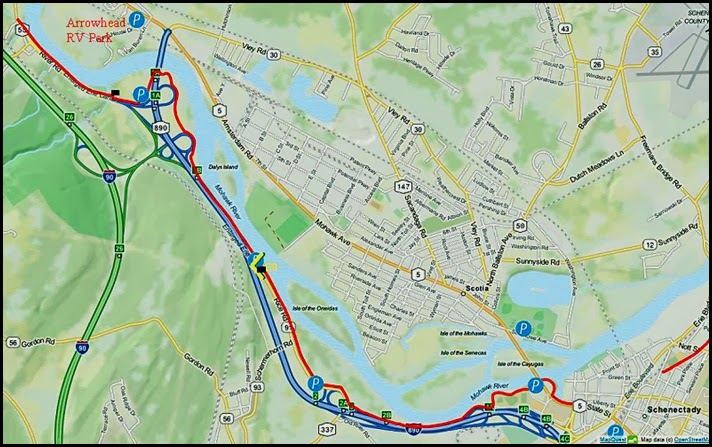 00 - Map of Mohawk Hundson Bike Trail - Erie Canal Trail