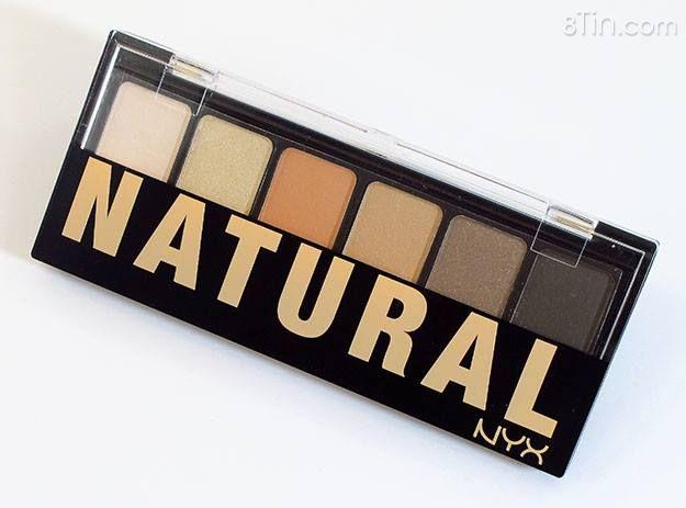 Phấn mắt NYX The Natural Shadow Palette với các tông màu trầm
