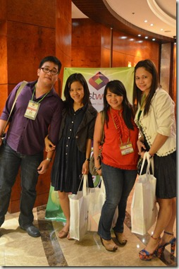 with fellow Bloggers, photo from TheDailyPosh