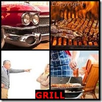 GRILL- 4 Pics 1 Word Answers 3 Letters