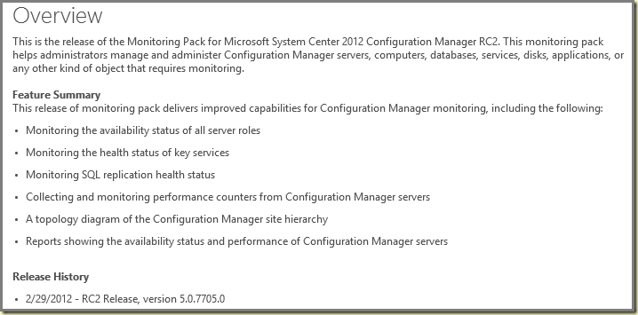 Thoughts on Azure, OMS & SCOM: New MP: Monitoring SCCM 2012 RC