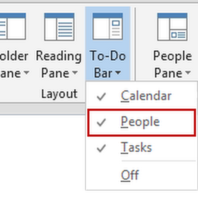 Favorite Contacts presence in Outlook 2013