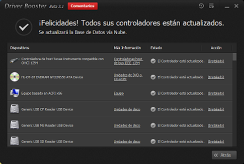 Actualizar controladores de Windows 8