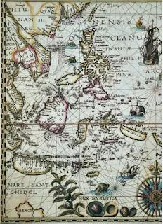 Bản đồ do Petrus or Pieter thực hiện năm 1594.