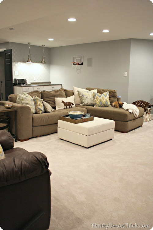 The Finished Basement From Thrifty Decor Chick