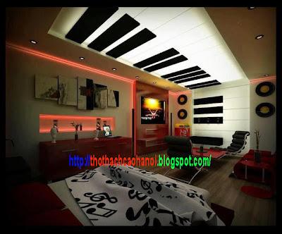 Trần thạch cao phòng ngủ