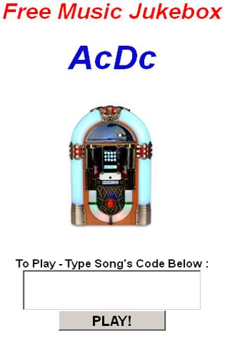 Ac/Dc JukeBox - screenshot