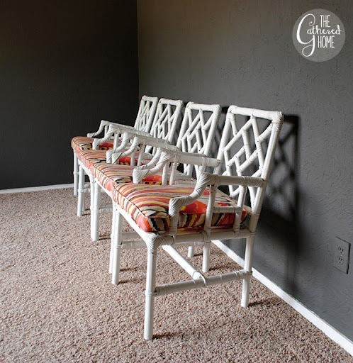 Wicker Chinese Chippendale Chairs 4