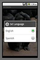 Screenshot of PicTeacher - teach by pictures