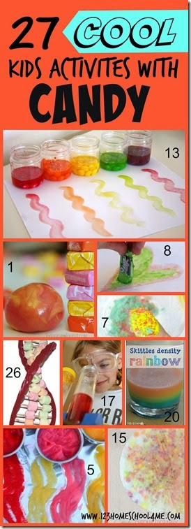 27 Kids Activities with candy including candy crafts for kids, candy activities for kids, candy activities fun, candy learning activities and candy learning games for toddler, preschool, prek, kindergarten, first grade, 2nd grade, 3rd grade, 4th grade kids. Perfect for leftover Halloween candy