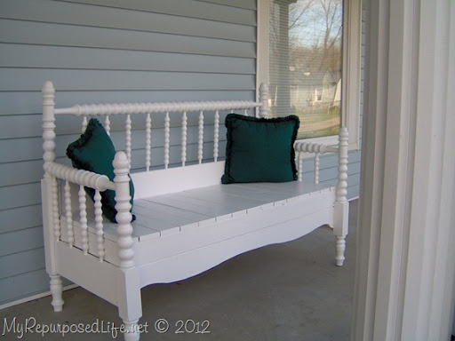Superb Repurposed Bed bench