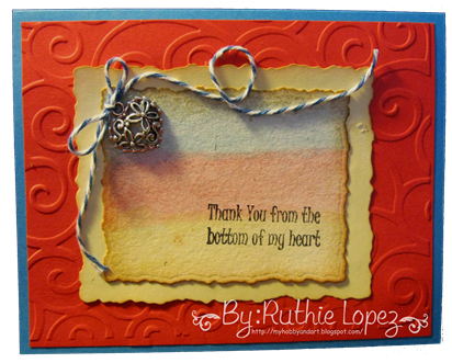 Inky Impressions - Thank You Rubber Stamp Sentiment - Tutorial - Ruthie Lopez 4