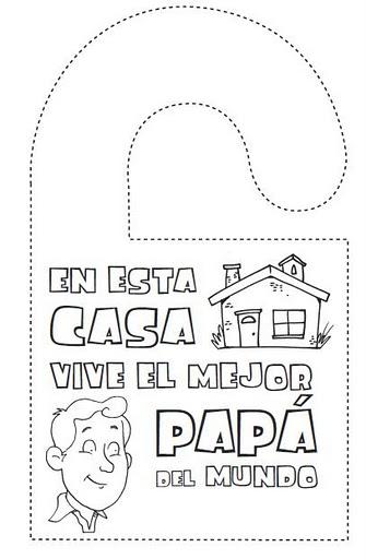 Dia Del Padre Dibujos Para Colorear