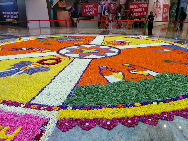 Onam Pookalam, Forum Mall, Mangalore