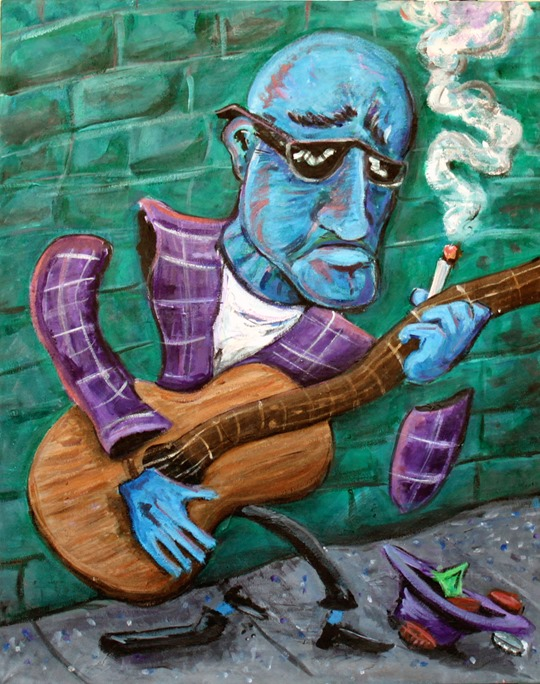 blues musician painting