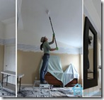 Cristina Garay painting ceiling with Kilz stainblocking ceiling paint4