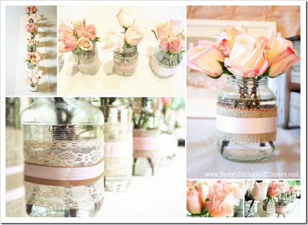 recycled jars as vases