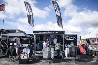 The mobile store is out at Official Santa Pod Raceway
