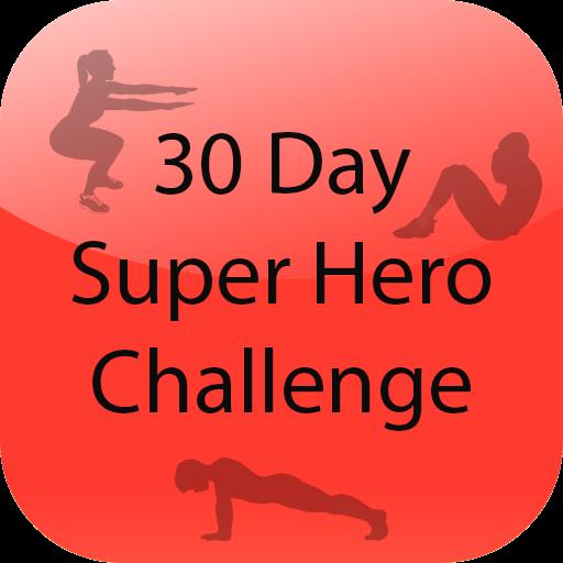 30 Day Super Hero Challenge LOGO-APP點子