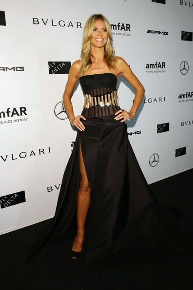 Heidi Klum attends the amfAR Milano 2014