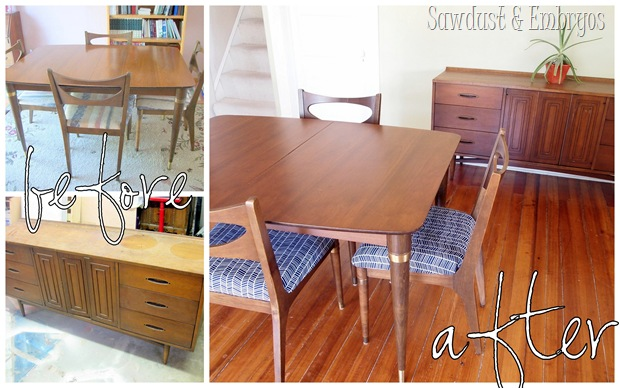 50's Dining Set Refurbished to it's original glory! {Sawdust and Embryos}