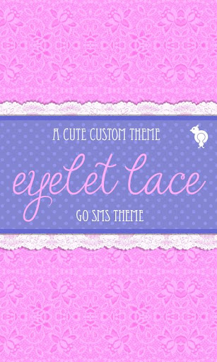 Pink Eyelet Lace Theme GO SMS
