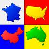 Die Karten aller Länder der Welt - Geographie-Quiz