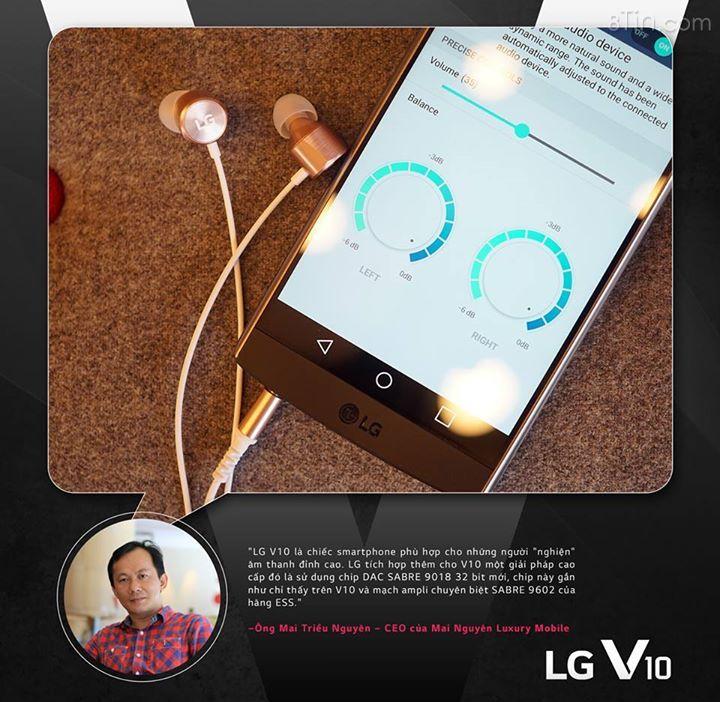 """""""LG V10 là chiếc smartphone phù hợp cho những người """"nghiện"""" âm"""