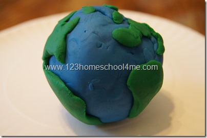 Earth Day Playdough Preschool  Actiivty