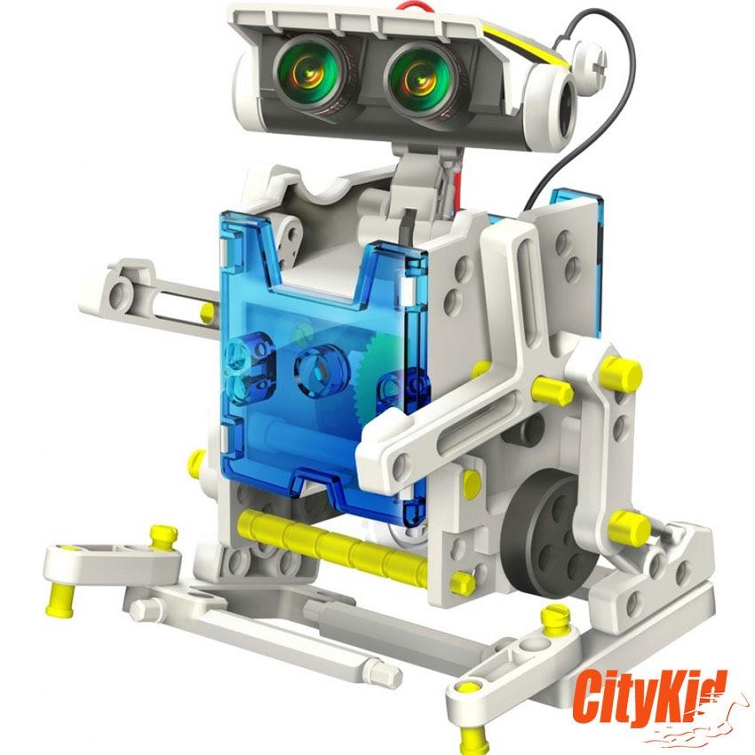 Lắp ráp robot năng lượng mặt trời 14 in 1